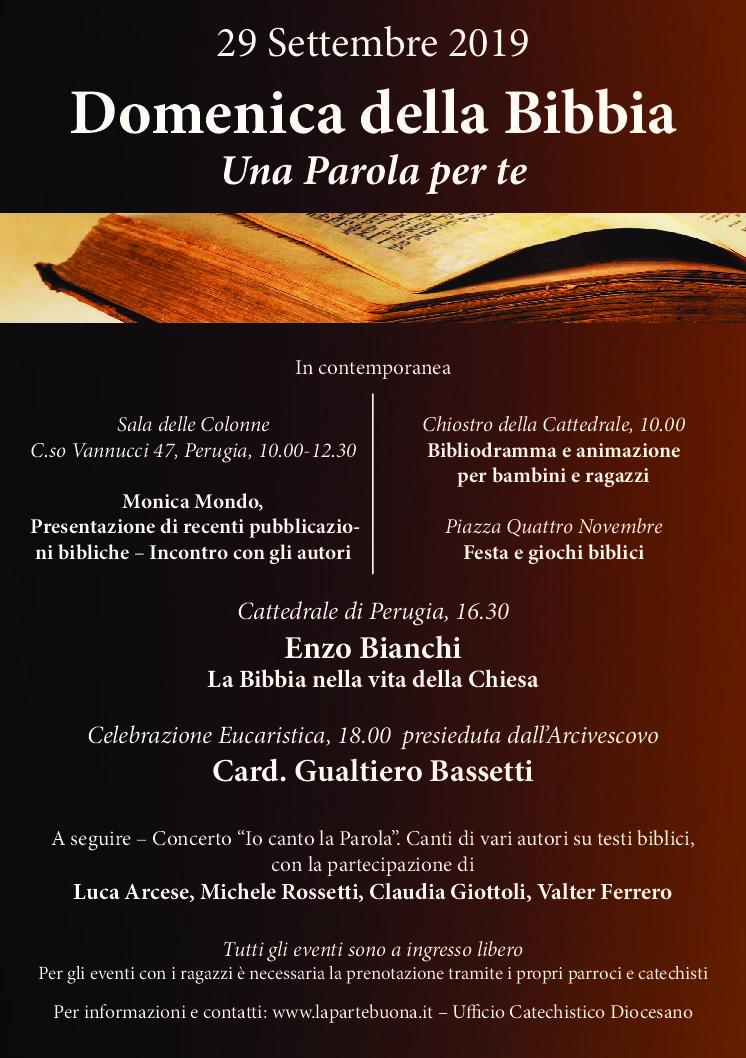 Parole Di Vita Calendario 2019.La Domenica Della Parola Perugia 29 Settembre 2019